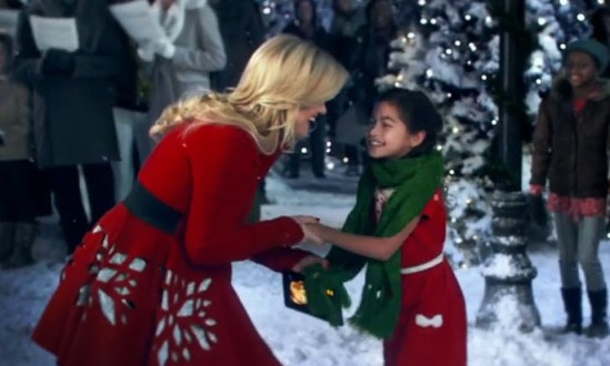 Kelly Clarkson Amazon Commercial Wrapped In Red Goes