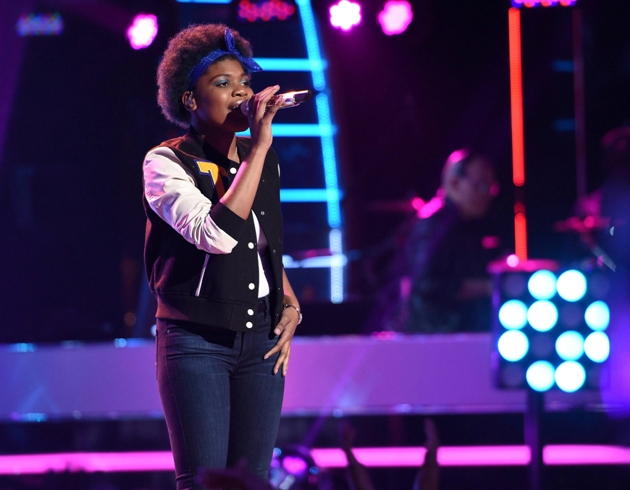 AMERICAN IDOL XIV:  Tyanna Jones performs on AMERICAN IDOL XIV airing Wednesday, March 25 (8:00-10:00 PM ET/PT) on FOX. CR: Michael Becker / FOX. © FOX BROADCASTING CO. This Image is embargoed until 10:00 PM PT.
