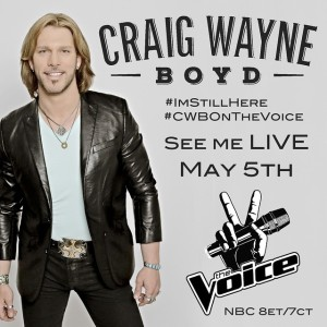 """The Voice 8 – Craig Wayne Boyd to Debut """"I'm Still Here"""" May 5"""