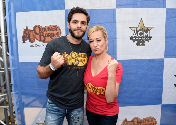 attends the Cracker Barrel Old Country Store Country Checkers Challenge at Globe Life Park in Arlington on April 18, 2015 in Arlington, Texas.