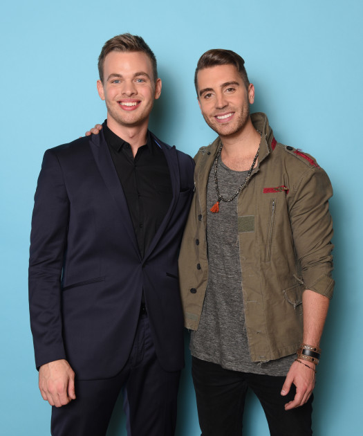 AMERICAN IDOL XIV: TOP 2: L-R: Clark Beckham and Nick Fradiani. CR: Michael Becker / FOX. © FOX Broadcasting. This image is embargoed until 10:00PM PT.