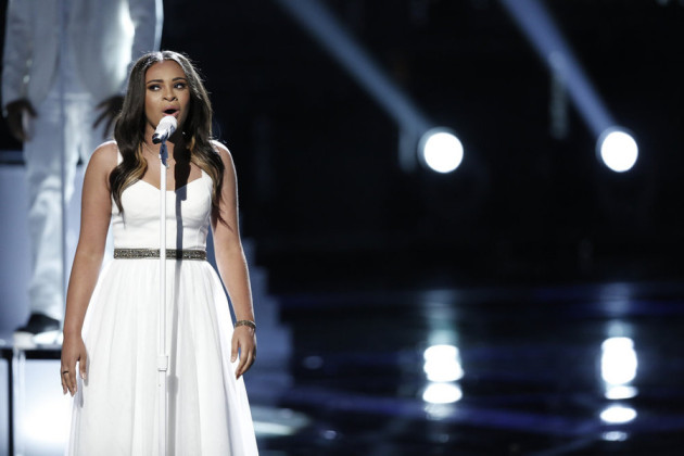 "THE VOICE -- ""Live Semis"" Episode 817A -- Pictured: Koryn Hawthorne -- (Photo by: Tyler Golden/NBC)"