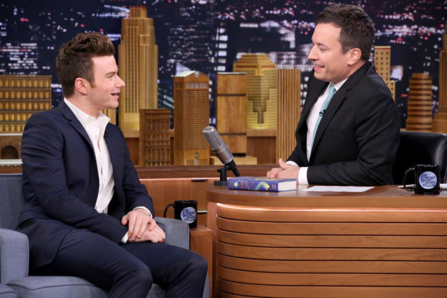 THE TONIGHT SHOW STARRING JIMMY FALLON -- Episode 0288 -- Pictured: (l-r) Actor Chris Colfer during an interview with host Jimmy Fallon on June 25, 2015 -- (Photo by: Douglas Gorenstein/NBC)