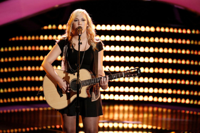 """THE VOICE -- """"Blind Auditions"""" -- Pictured: Morgan Frazier -- (Photo by: Tyler Golden/NBC)"""