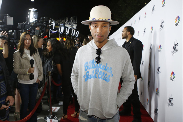 "THE VOICE -- ""Season 7 Coaches Concert at Hyde"" -- Pictured: Pharrell Williams -- (Photo by: Trae Patton/NBC)"