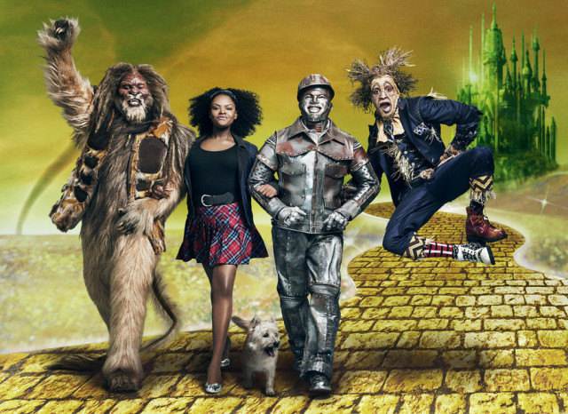 THE WIZ LIVE! -- Season: 2015 -- Pictured: (l-r) David Alan Grier as Lion, Shanice Williams as Dorothy, Ne-Yo as Tinman, Elijah Kelley as Scarecrow -- (Photo by: Kwaku Alston/NBC)