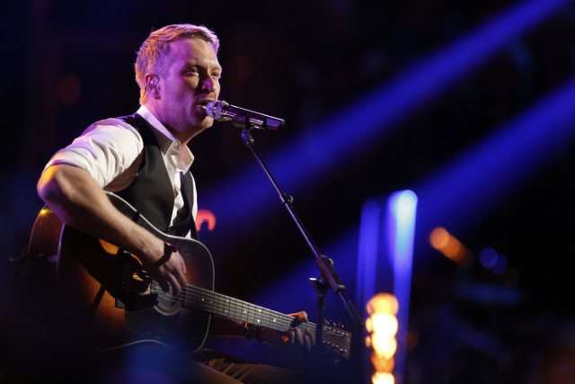 """THE VOICE -- """"Live Top 10"""" Episode 916A -- Pictured: Barrett Baber -- (Photo by: Trae Patton/NBC)"""