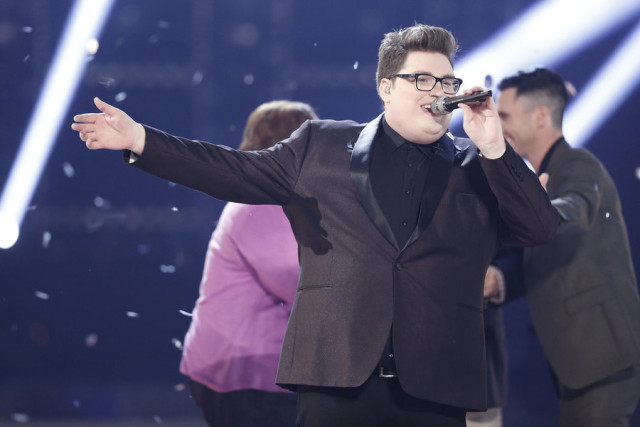 "THE VOICE -- ""Live Finale"" Episode 918B -- Pictured: Jordan Smith -- (Photo by: Tyler Golden/NBC)"