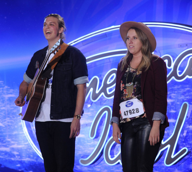 AMERICAN IDOL: L-R: James VIII and Amber Lynn perform in front of the Judges on AMERICAN IDOL airing Thursday, Jan. 14 (8:00-10:00 PM ET/PT) on FOX. © 2016 Fox Broadcasting Co. CR: Ray Mickshaw / FOX.