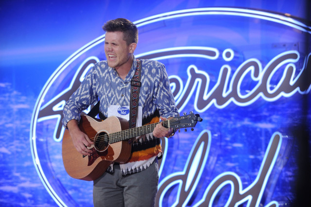 AMERICAN IDOL: Little Rock Auditions: AMERICAN IDOL will begin its 15th – and farewell – season with a special two-night, four-hour premiere event Wednesday, Jan. 6 (8:00-10:00 PM ET/PT) and Thursday, Jan. 7 (8:00-10:00 PM ET/PT) on FOX. AMERICAN IDOL continues on Wednesdays (8:00-9:00 PM ET/PT) and Thursdays (8:00-10:00 PM ET/PT). Pictured: Contestant Trent Harmon auditions in front of the judges at AMERICAN IDOL. © 2016 Fox Broadcasting Co. Cr: Michael Becker / FOX.