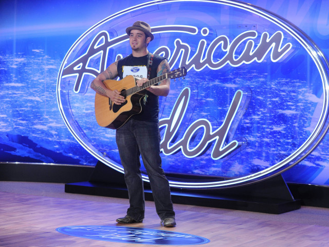 """AMERICAN IDOL: Chris """"C.J."""" Johnson performs in front of the Judges on AMERICAN IDOL airing Thursday, Jan. 14 (8:00-10:00 PM ET/PT) on FOX. © 2016 Fox Broadcasting Co. CR: Ray Mickshaw / FOX."""