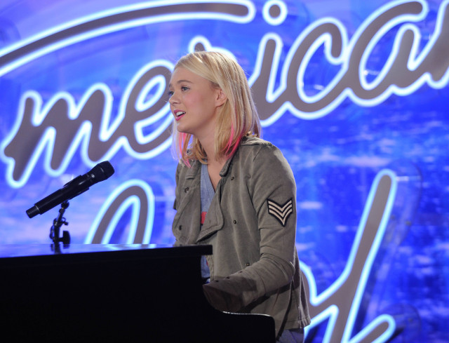 Olivia Rox American Idol 2016 Season 15 Top 24 - Pictured: Contestant Olivia Rox auditions in front of the judges at AMERICAN IDOL. © 2016 Fox Broadcasting Co. Cr: Michael Becker / FOX.