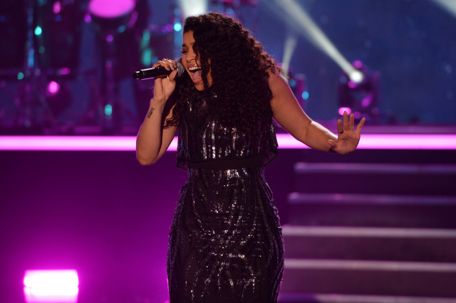 PITBULLÕS NEW YEARÕS REVOLUTION: Jordin Sparks performs at Bayfront Park on Thursday December 31, 2015, in Miami, Fla. for PITBULLÕS NEW YEARÕS REVOLUTION on FOX for the night's hottest New YearÕs celebration. CR: Jeff Daly/FOX