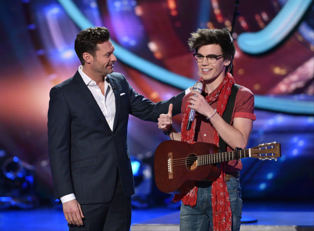 AMERICAN IDOL: Top 3: L-R: Host Ryan Seacrest and contestant MacKenzie Bourg on AMERICAN IDOL airing Thursday, March 31 (8:00-10:00 PM ET/PT) on FOX. © 2016 FOX Broadcasting Co. Cr: Michael Becker/ FOX. This image is embargoed until Thursday, March 31,10:00PM PT / 1:00AM ET