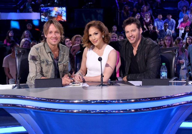 AMERICAN IDOL: Top 8: L-R: Judges Keith Urban, Jennifer Lopez and Harry Connick Jr. on AMERICAN IDOL airing Thursday, March 3 (8:00-10:00 PM ET/PT) on FOX. © 2016 FOX Broadcasting Co. Cr: Ray Mickshaw/ FOX. This image is embargoed until Thursday, March 3,10:00PM PT / 1:00AM ET