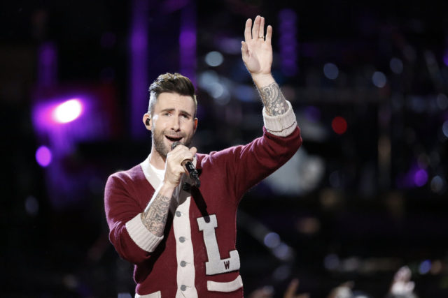 "THE VOICE -- ""Live Top 9"" Episode 1016B -- Pictured: Adam Levine -- (Photo by: Tyler Golden/NBC)"