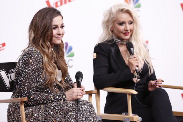 """THE VOICE -- """"Live Finale"""" Episode 1018B -- Pictured: (l-r) Alisan Porter, Christina Aguilera -- (Photo by: Tyler Golden/NBC)"""