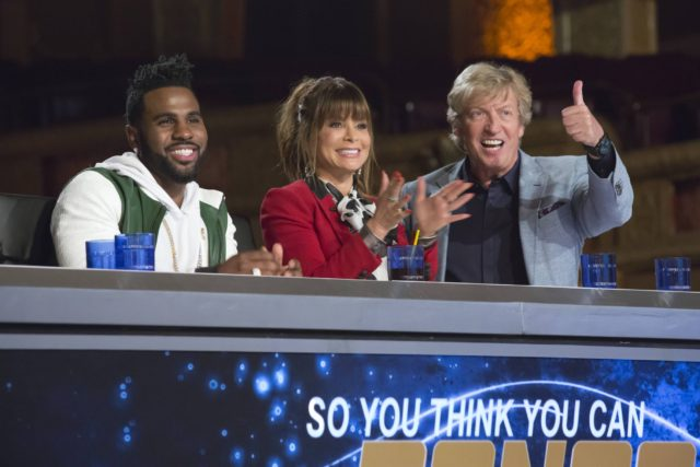 SO YOU THINK YOU CAN DANCE: Pictured L-R: Jason Derulo, Paula Abdul and Nigel Lythgoe in the Chicago auditions for SO YOU THINK YOU CAN DANCE: THE NEXT GENERATION airing Monday, June 6 (8:00-9:00 PM ET/PT) on FOX. ©2016 Fox Broadcasting Co. CR : Chuck Hodes/FOX