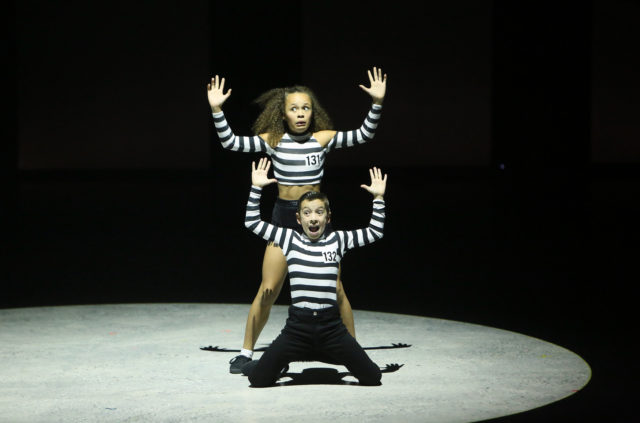"""SO YOU THINK YOU CAN DANCE: L-R: Top 10 contestants Tahani Anderson and Jake Monreal perform a Jive routine to """"Jailhouse Rock"""" choreographed by Emma Slater & Sasha Farber on SO YOU THINK YOU CAN DANCE airing Monday, July 18 (8:00-10:00 PM ET live/PT tape-delayed) on FOX. ©2016 FOX Broadcasting Co. Cr: Patrick Wymore"""