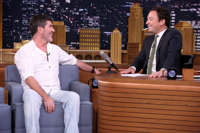 THE TONIGHT SHOW STARRING JIMMY FALLON -- Episode 0506 -- Pictured: (l-r) Television personality Simon Cowell during an interview with host Jimmy Fallon on July 22, 2016 -- (Photo by: Andrew Lipovsky/NBC)