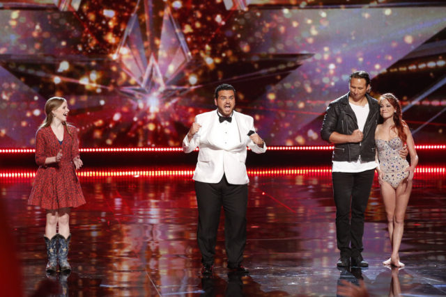 """AMERICA'S GOT TALENT -- """"Live Results 2"""" Episode: 1114 -- Pictured: (l-r) Kaie Lynn, Sal Valentinetti, ThroWings -- (Photo by: Trae Patton/NBC)"""