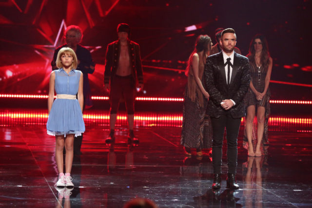 "AMERICA'S GOT TALENT -- ""Live Results 3""  Episode: 1117 -- Pictured: (l-r) Grace VanderWaal, Brian Justin Crum -- (Photo by: Vivian Zink/NBC)"