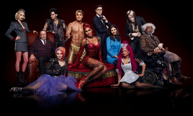 THE ROCKY HORROR PICTURE SHOW: LET'S DO THE TIME WARP AGAIN: L-R: Ivy Levan, Tim Curry, Adam Lambert, Annaleigh Ashford, Staz Nair, Laverne Cox, Ryan McCartan, Victoria Justice, Christina Milian, Reeve Carney and Ben Vereen in THE ROCKY HORROR PICTURE SHOW: LET'S DO THE TIME WARP AGAIN premiering Thursday, Oct. 20 (8:00-10:00 PM ET/PT) on FOX. ©2016 Fox Broadcasting Co. Cr: Miranda Penn Turin/FOX