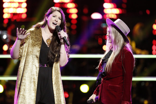 "THE VOICE -- ""Battle Rounds"" -- Pictured: (l-r) Karlee Metzger, Darby Walker -- (Photo by: Tyler Golden/NBC)"