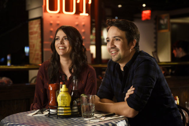 "SATURDAY NIGHT LIVE -- ""Lin-Manuel Miranda"" Episode 1706 -- Pictured: (l-r) Cecily Strong and host Lin-Manuel Miranda on October 4, 2016 -- (Photo by: Rosalind O'Connor/NBC)"