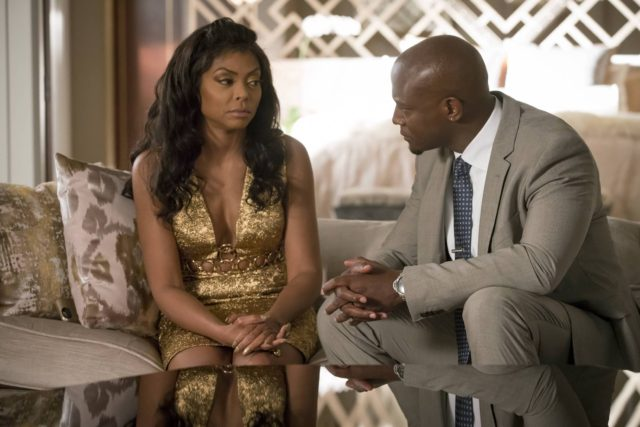 """EMPIRE: Pictured L-R: Taraji P. Henson and guest star Taye Diggs in the """"Chimes at Midnight"""" episode of EMPIRE airing Wednesday, Nov. 9 (9:00-10:00 PM ET/PT) on FOX. ©2016 Fox Broadcasting Co. CR: Chuck Hodes/FOX"""