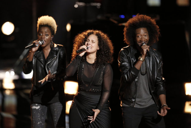 """THE VOICE -- """"Live Top 12"""" Episode 1114B -- Pictured: Alicia Keys -- (Photo by: Tyler Golden/NBC)"""