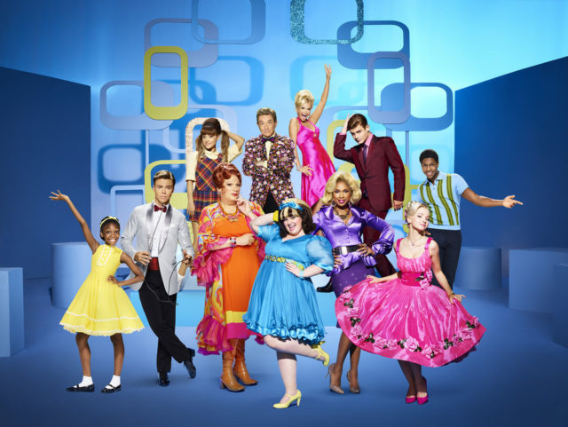 HAIRSPRAY LIVE! -- Season: 2016 -- Pictured: (l-r) top row: Ariana Grande as Penny Pingleton, Martin Short as Wilbur Turnblad, Kristin Chenoweth as Velma Von Tussle, Garrett Clayton as Link Larkin, Ephraim Skyes as Seaweed J. Stubbs; bottom row: Shahadi Wright Joseph as Little Inez, Derek Hough as Corny Collins, Harvey Fierstein as Edna Turnblad, Maddie Baillio as Tracy Turnblad, Jennifer Hudson as Motormouth Maybelle, Dove Cameron as Amber Von Tussle -- (Photo by: Brian Bowen Smith/NBC)