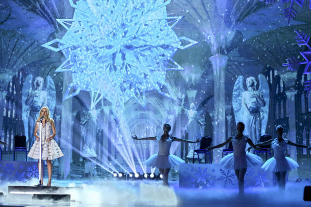 """AMERICA'S GOT TALENT -- """"America's Got Talent Holiday Spectacular"""" -- Pictured: Jackie Evancho -- (Photo by: Vivian Zink/NBC)"""