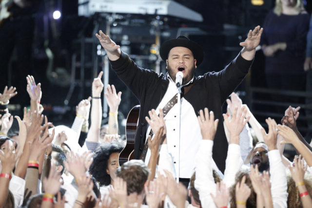 """THE VOICE -- """"Live Semi Finals"""" Episode 1117A -- Pictured: Christian Cuevas -- (Photo by: Tyler Golden/NBC)"""