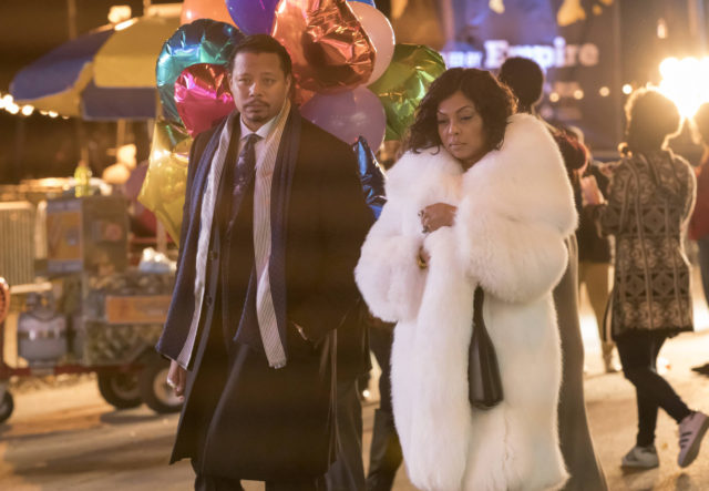 "EMPIRE: Pictured L-R: Terrence Howard and Taraji P. Henson in the ""A Furnace For your Foe"" fall finale episode of EMPIRE airing Dec. 14 (8:00-9:00 PM ET/PT) on FOX. ©2016 Fox Broadcasting Co. CR: Chuck Hodes/FOX"