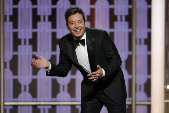 74th ANNUAL GOLDEN GLOBE AWARDS -- Pictured: Jimmy Fallon, Host, at the 74th Annual Golden Globe Awards held at the Beverly Hilton Hotel on January 8, 2017 -- (Photo by: Paul Drinkwater/NBC)