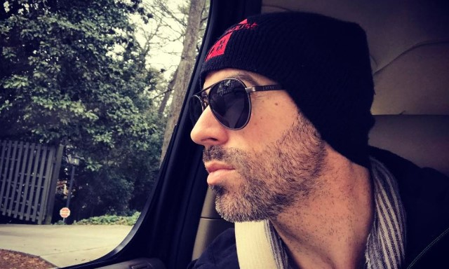 Chris Daughtry on his way to the studio