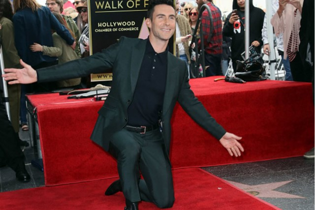The Voice Adam Levine Hollywood Walk of Fame