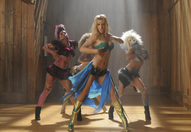 """GLEE: Brittany (Heather Morris, C) dreams of being Britney Spears in the """"Britney/Brittany"""" episode of GLEE airing Tuesday, Sept. 28 (8:00-9:00 PM ET/PT) on FOX. ©2010 Fox Broadcasting Co. Cr: Adam Rose/FOX"""