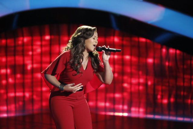 "THE VOICE -- ""Blind Auditions"" -- Pictured: Felicia Temple -- (Photo by: Tyler Golden/NBC)"