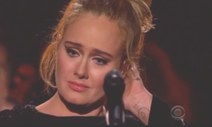 Adele Restarts George Michael Tribute at 2017 Grammys, Apologizes (VIDEO)