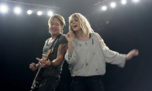 "Keith Urban & Carrie Underwood Debut ""The Fighter"" Music Video"