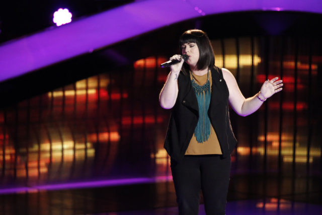 """THE VOICE -- """"Blind Auditions"""" -- Pictured: Missy Robertson -- (Photo by: Tyler Golden/NBC)"""