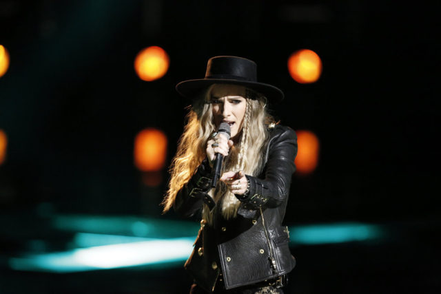 """THE VOICE -- """"Live Top 11"""" Episode 1216B -- Pictured: Stephanie Rice -- (Photo by: Tyler Golden/NBC)"""