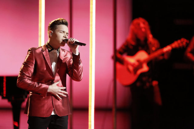 "THE VOICE -- ""Live Top 10"" Episode 1217A -- Pictured: Mark Isaiah -- (Photo by: Tyler Golden/NBC)"