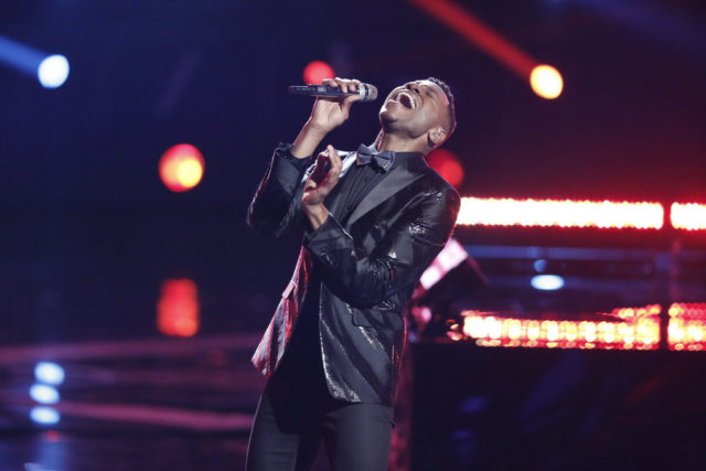 """THE VOICE -- """"Live Finale"""" Episode 1219A -- Pictured: Chris Blue -- (Photo by: Tyler Golden/NBC)"""