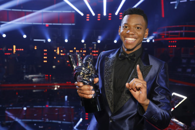 "THE VOICE -- ""Live Finale"" Episode 1219B -- Pictured: Chris Blue -- (Photo by: Trae Patton/NBC)"
