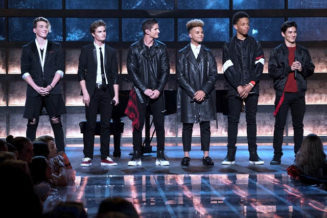 """Boy Band,"" airing on THURSDAY, JUNE 29 (8:00-9:00 p.m. EDT), on The ABC Television Network. (ABC/Eric McCandless) JON KLAASEN, BRADY TUTTON, ANDREW BLOOM, JADEN GRAY, CAMRY JACKSON, CHANCE PEREZ"