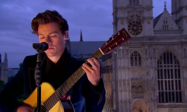 harry styles two ghosts late late show video