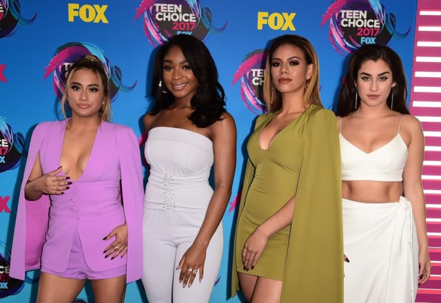 TEEN CHOICE 2017: Fifth Harmony arrives on the blue carpet at TEEN CHOICE 2017 airing Sunday, August 13 (8:00-10:00 PM ET live/PT tape-delayed) on FOX at The Galen Center in Los Angeles, CA. ©2017 Fox Broadcasting Co. CR: Scott Kirkland/FOX